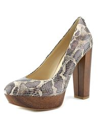 Guess | Multicolor Padey 2 Round Toe Leather Heels | Lyst