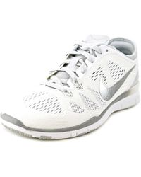 Nike | Free 5.0 Tr Fit 5 Women Round Toe Synthetic White Cross Training | Lyst