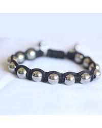 Blue Candy Jewelry | Metallic Shamballa Hematite Chrome Bracelet | Lyst