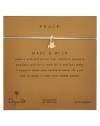 Dogeared - Metallic 14k Over Silver Make A Wish Peace Dove Necklace - Lyst