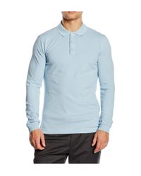 Armani | Blue Mens Polo Long Sleeve for Men | Lyst