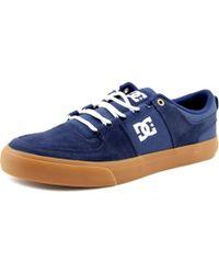DC Shoes | Lynx Vulc Men Round Toe Suede Blue Sneakers for Men | Lyst