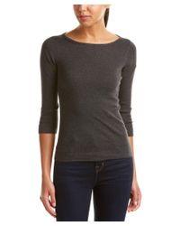 Three Dots - Gray 3/4-sleeve British T-shirt - Lyst