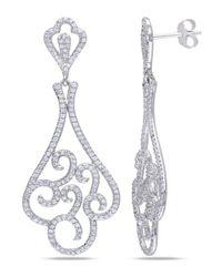 Catherine Malandrino - Metallic Cz Scroll Earrings - Lyst