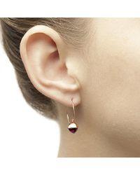 Jewelista - Pyramid Cabochon Blue Topaz Wire Earrings - Lyst