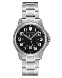 Victorinox | Metallic Women's Officer's Black Dial Stainless Steel | Lyst