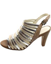 Gerry Weber - Metallic Sascha 05 Women Open-toe Leather Slingback Heel - Lyst