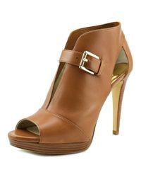 MICHAEL Michael Kors | Brown Isabella Bootie Women Open-toe Leather Bootie | Lyst