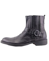 CafeNoir - Black Mg20 Cap Toe Leather Boot for Men - Lyst