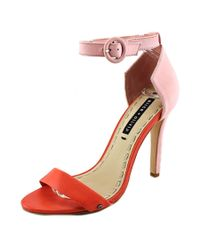 Alice + Olivia | Multicolor Gala Open-toe Leather Slingback Heel | Lyst