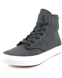 Vans - Black Camden Hi Round Toe Canvas Sneakers - Lyst