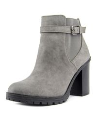 Circus by Sam Edelman | Gray Deacon Women Round Toe Synthetic Ankle Boot | Lyst