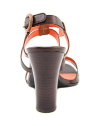 Via Spiga - Brown Ruslana Women Open-toe Leather Slingback Sandal - Lyst