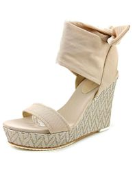 Donald J Pliner | Natural Donald J Pliner Nela Women Open Toe Canvas Wedge Sandal | Lyst