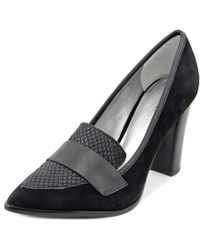 Tahari - Aimee Women Pointed Toe Suede Black Heels - Lyst