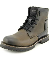 Caterpillar | Brown Lenox Men Round Toe Leather Boot for Men | Lyst