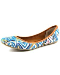 American Rag | Blue Cellia Round Toe Canvas Flats | Lyst