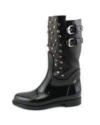 Stuart Weitzman - Black Trotter Women Round Toe Patent Leather Rain Boot - Lyst