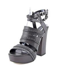 Camilla Skovgaard | Brown Platform Women Open Toe Leather Sandals | Lyst