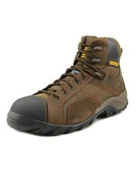 Caterpillar | Brown Argon Hi Wp Ct Round Toe Leather Work Boot for Men | Lyst