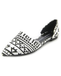 Chinese Laundry | White Easy Does It Pointed Toe Canvas Flats | Lyst
