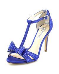 INC International Concepts   Blue Reesie 2 Open Toe Canvas Sandals   Lyst