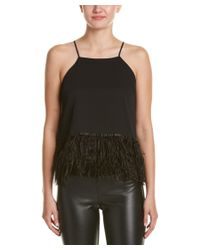 Endless Rose | Black Feather Top | Lyst