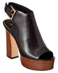 Rachel Zoe | Black Harper Calfskin Sandal | Lyst