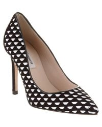 L.K.Bennett - Black Inferna Suede & Leather Pump - Lyst