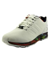 Adidas Originals | White Zx Flux Round Toe Canvas Sneakers for Men | Lyst