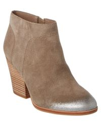 Isola | Gray Leandra Suede Bootie | Lyst