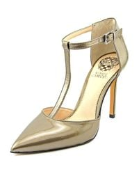 Vince Camuto | Metallic Nihal Women Pointed Toe Patent Leather Heels | Lyst