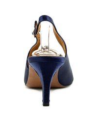 Kay Unger - Blue Arrale Open Toe Canvas Sandals - Lyst
