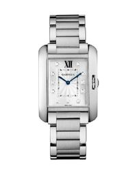 Cartier | Metallic Women's Tank Anglaise Diamond Watch | Lyst
