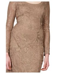 Sue Wong - Pink Soutache Embroidered Ribbon Long Sleeve Party Dress - Lyst