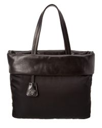 Prada | Black Fabric & Nappa Leather Tote | Lyst