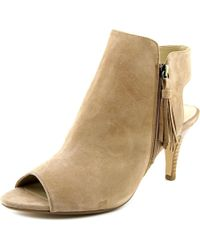 Adrienne Vittadini | Natural Gallina Open Toe Suede Sandals | Lyst