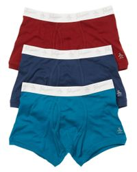 Original Penguin | Blue Pack Of 3 Boxer Trunks for Men | Lyst