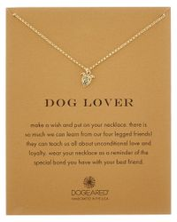 Dogeared | Metallic 14k Over Silver Dog Lover Pitbull Necklace | Lyst