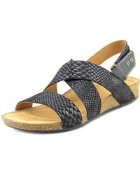 Clarks | Black Perri Dune Women Open-toe Leather Slingback Sandal | Lyst