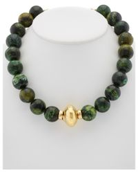 Devon Leigh | Green 18k Plated Chrysocolla Necklace | Lyst
