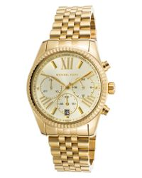 Michael Kors - Metallic Women's Lexington Chronograph Gold-tone Stainless Steel And Dial - Lyst