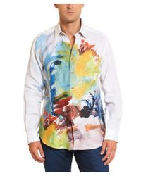 Robert Graham - Multicolor Arizona Evening Linen Classic Fit Woven Shirt for Men - Lyst