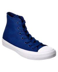 Converse | Blue Unisex Chuck Taylor All Star Ii High Top Sneaker for Men | Lyst