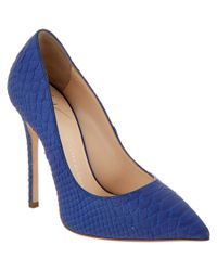 Giuseppe Zanotti | Blue Embossed Leather Pump | Lyst