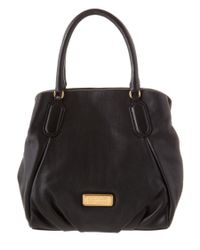 Marc By Marc Jacobs | Black New Q Fran Leather Tote | Lyst