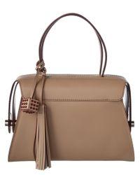 Tod's - Natural Twist Medium Leather Boston Bag - Lyst
