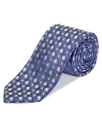 Canali - Blue Paisley Silk Tie for Men - Lyst