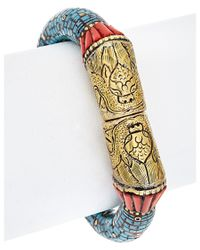 Devon Leigh | Multicolor Turquoise & Coral Bangle | Lyst