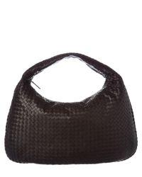 Bottega Veneta | Black Maxi Intrecciato Nappa Leather Veneta Hobo | Lyst
